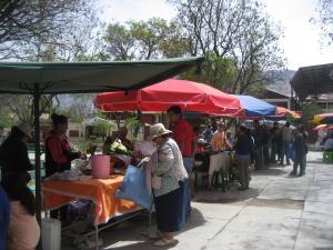 Keskiviikkoisin Cochabamban kaupungissa myydään luomutuotteita