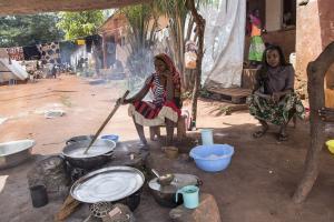 Sisäisten pakolaisten leiri Bangassoussa. Kuva: YK